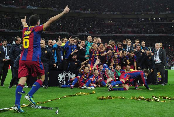 Celebración de la Champions 2011